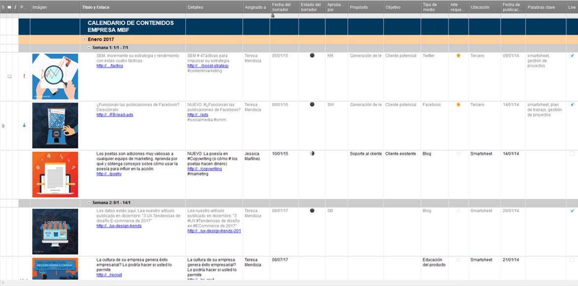 9 plantillas de calendario de marketing para Excel gratis - Smartsheet