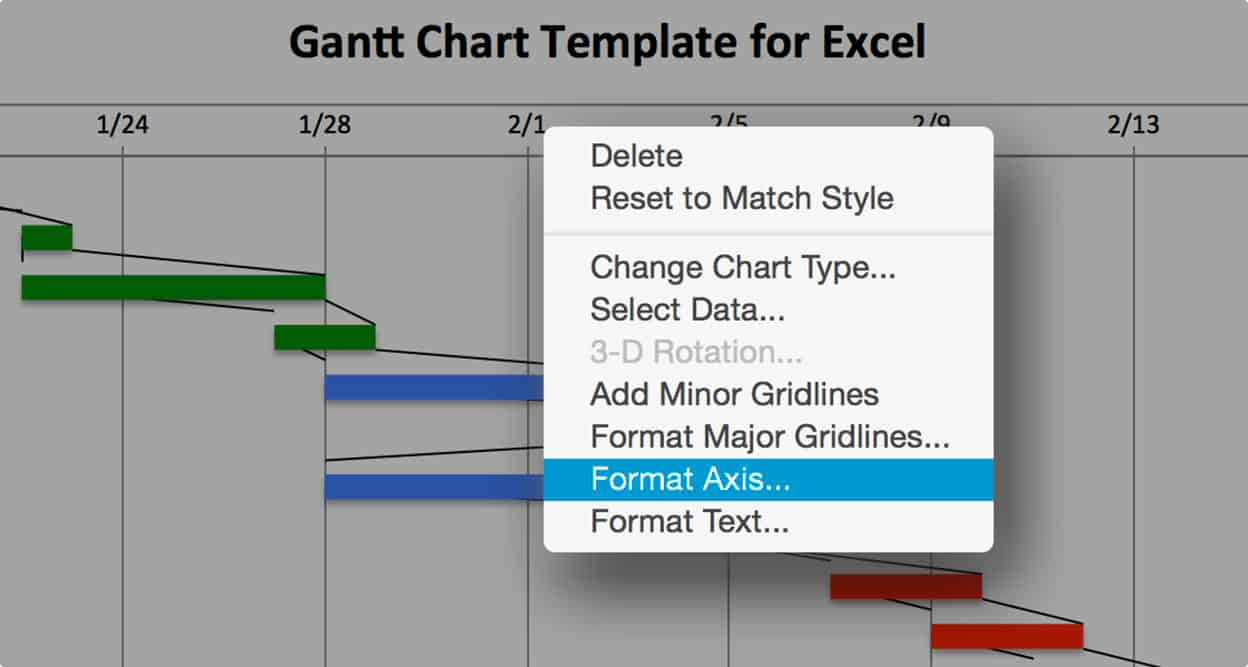 Use this free gantt chart excel template gantt chart excel format date axis nvjuhfo Image collections