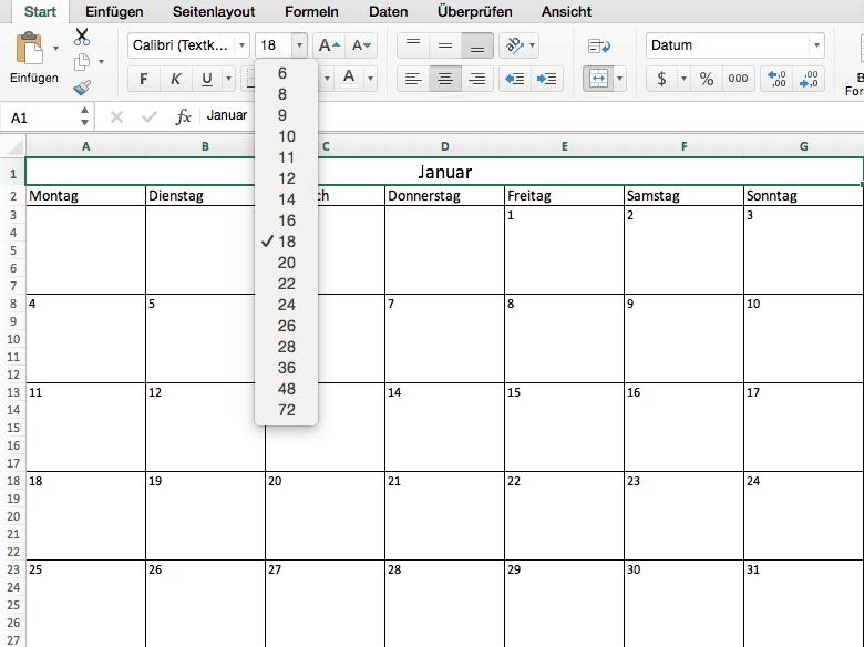Calendar Art Xls : Kalender in excel erstellen mit kostenloser vorlage