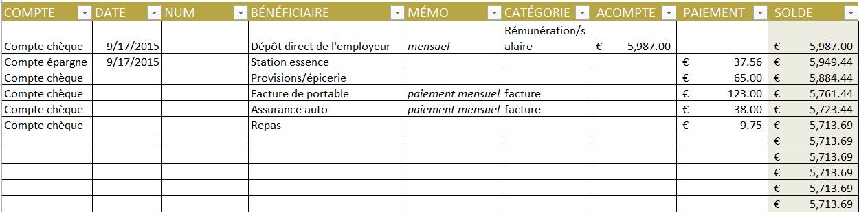 Très Modèles divers de budget gratuit dans Excel AY72