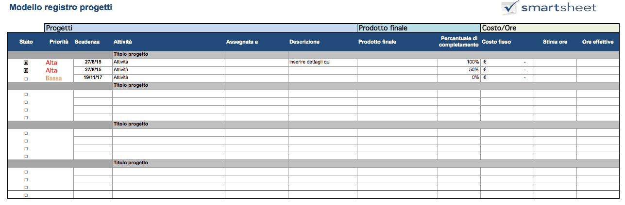 Project Tracker Excel IT