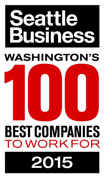 Reconhecido pela Seattle Business como uma das 100 Melhores Empresas para Trabalhar 2015
