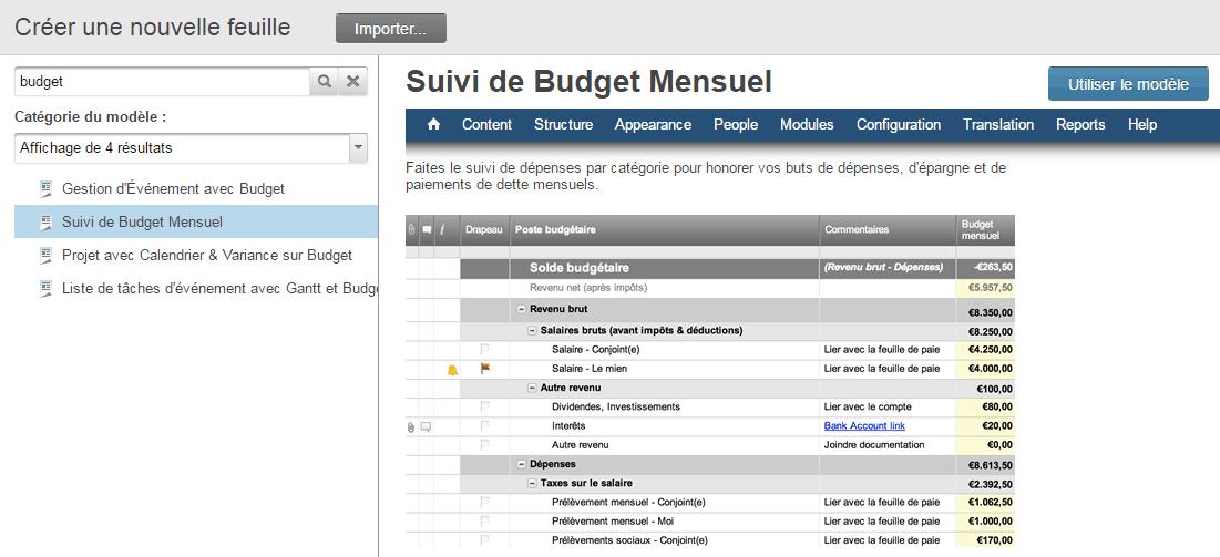 Fabulous Modèles divers de budget gratuit dans Excel GD58