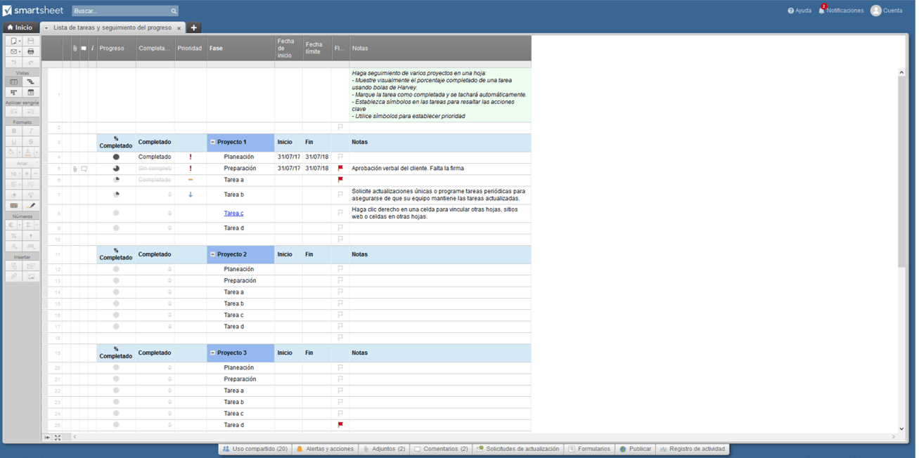 To Do List Smartsheet ES