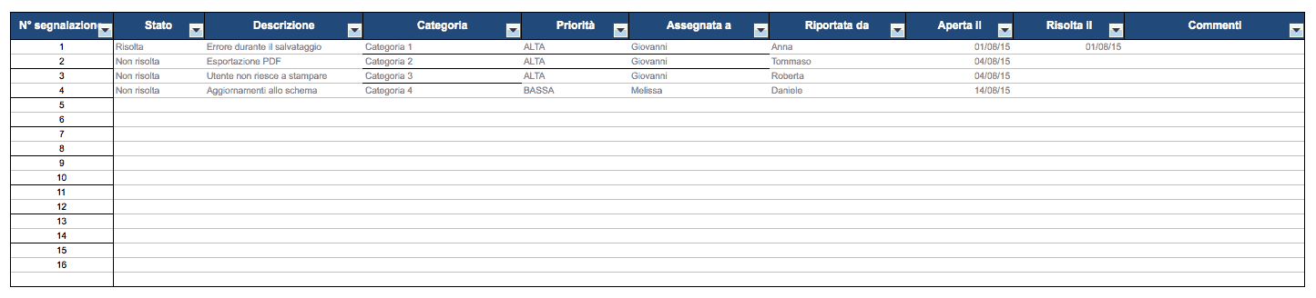 Issue Tracker Excel IT