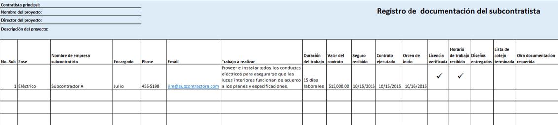 Plantillas gratis de Excel para proy. de construcción