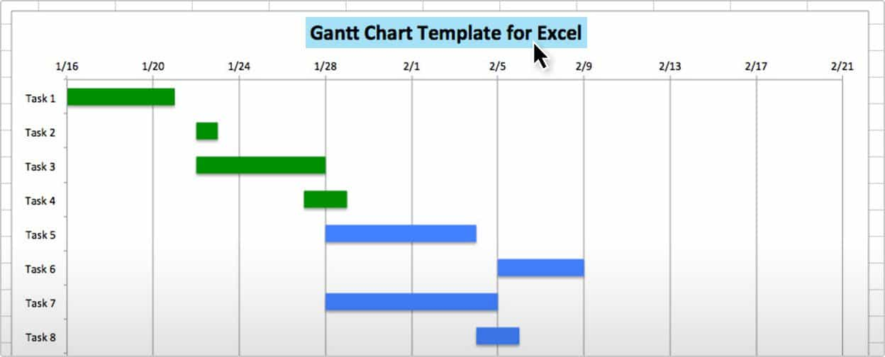 gantt chart sample: Use this free gantt chart excel template
