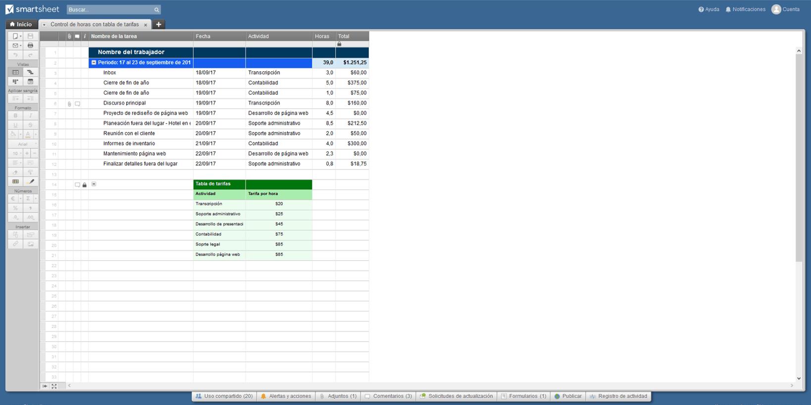 Plantillas gratis de gestión de proyectos en Excel