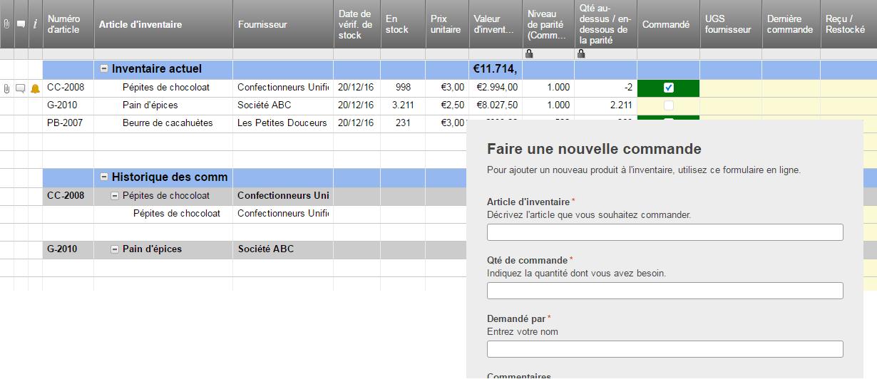 Mod les gratuits d 39 inventaire pour excel smartsheet - Www blanche porte fr suivi de commande ...