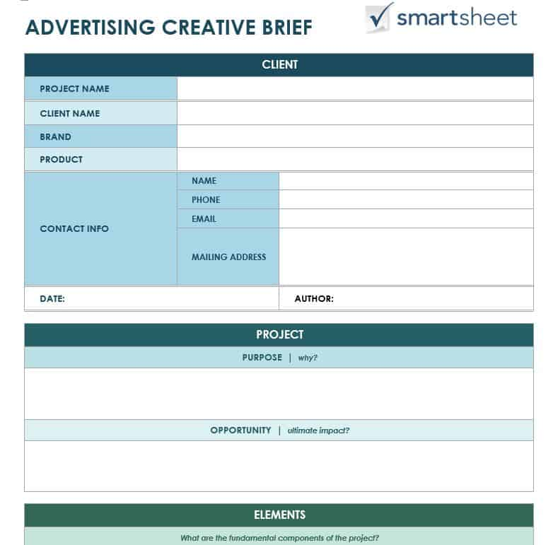 Free creative brief templates smartsheet advertisingcreativebriefwordg download advertising creative brief template pronofoot35fo Image collections