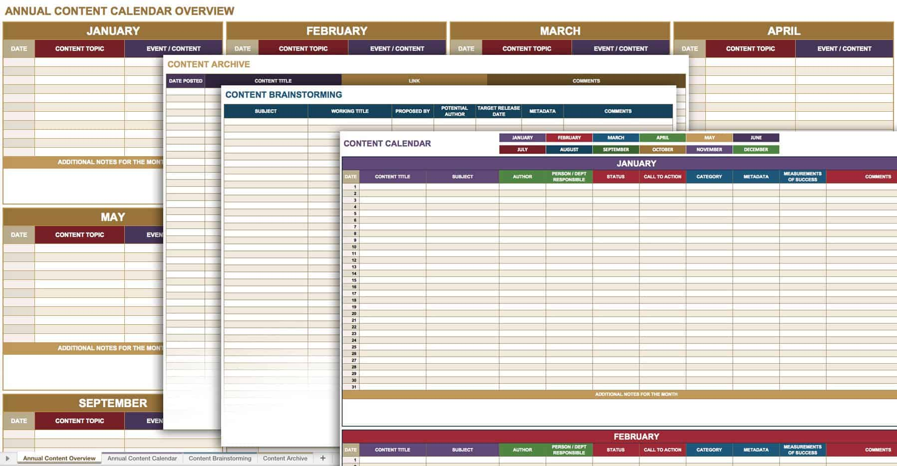 AnnualContentCalendar  Audit Template Word