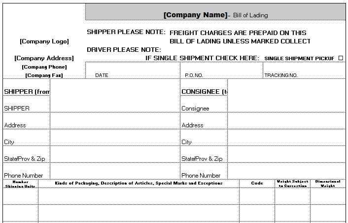 Worksheets Accounting Worksheet Template free accounting templates in excel a bill of lading is document detailing how goods are being shipped from seller to recipient it includes details about the items shipped