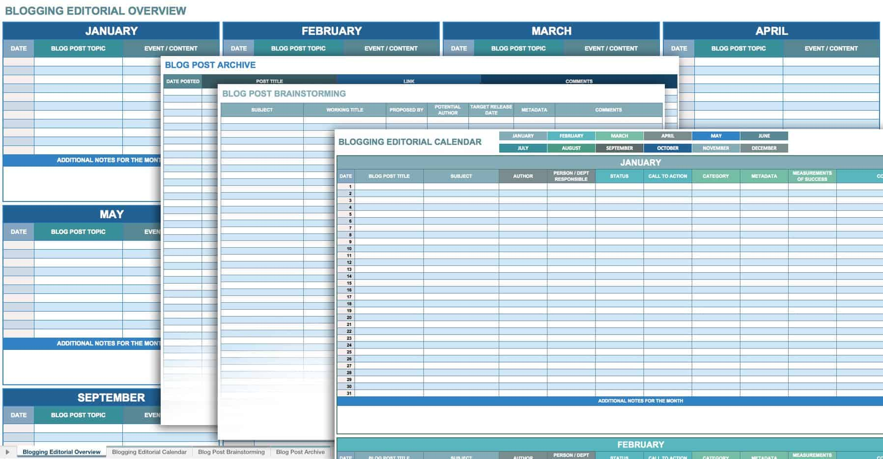 12 Free Social Media Templates Smartsheet – Printable Calendars Sample