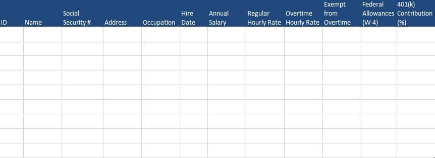 Free Human Resources Templates in Excel – Payroll Template