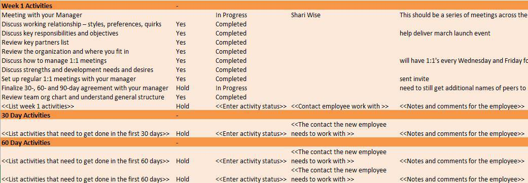 human resources plan example human resources templates in excel