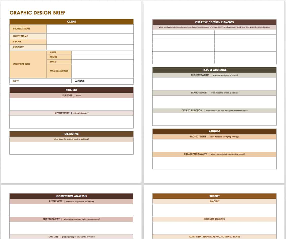 creative brief templates smartsheet this template has a simple layout that is easy to and edit and it includes all of the important elements of a creative design brief along room