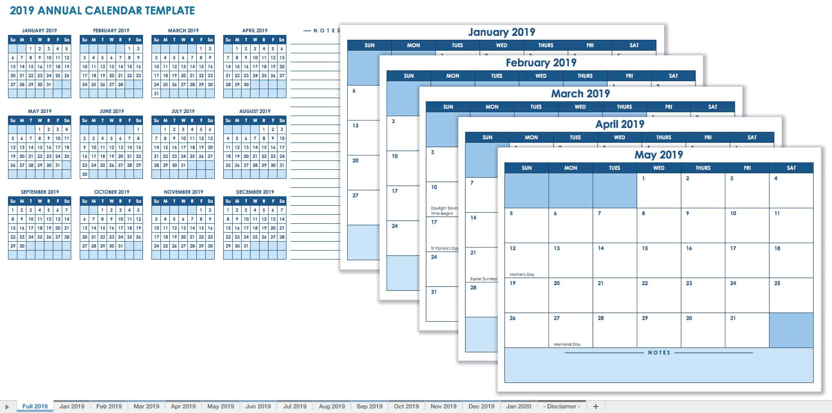 15 free monthly calendar templates