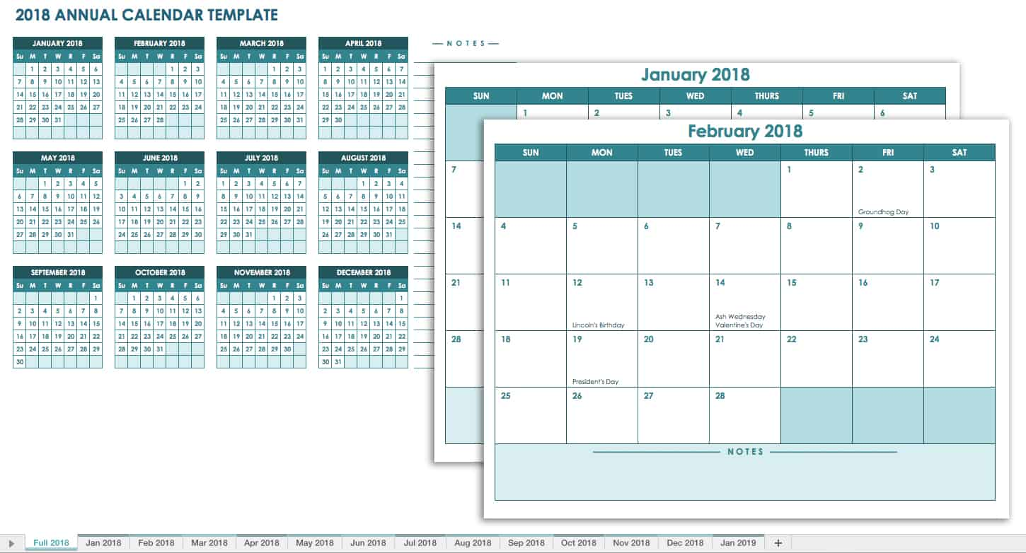 20 free calendar templates for work personal planning