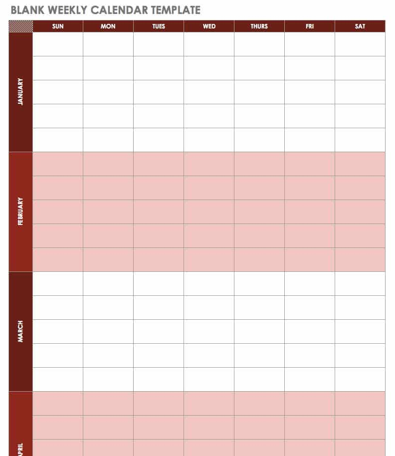 Free Excel Calendar Template