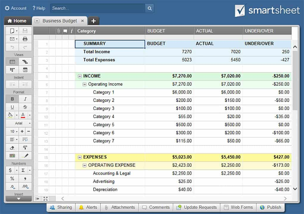 Free Accounting Templates in Excel  Smartsheet