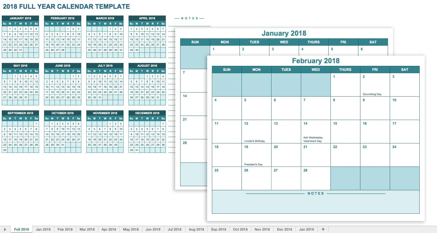 15 free monthly calendar templates smartsheet for Yearly vacation calendar template