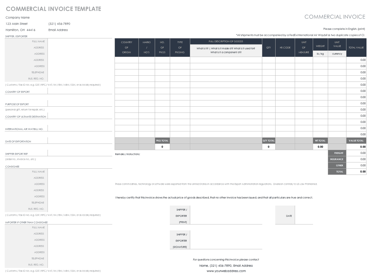 microsoft word bill of lading template