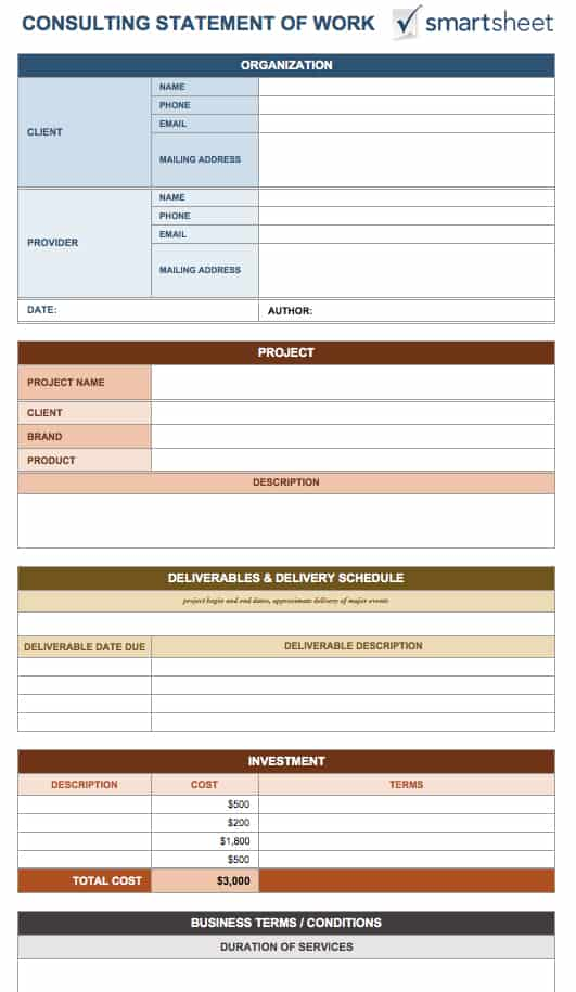 multi generational project plan template - free statement of work templates smartsheet