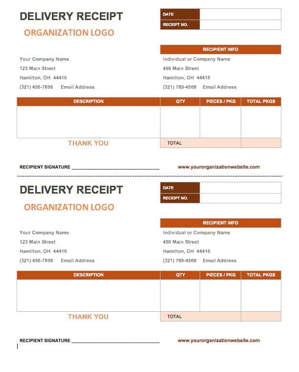 13 Free Business Receipt Templates Smartsheet – Proof of Delivery Template