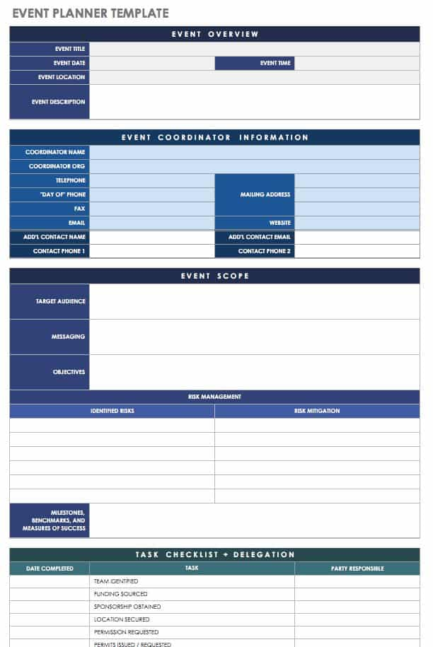 21 Free Event Planning Templates | Smartsheet