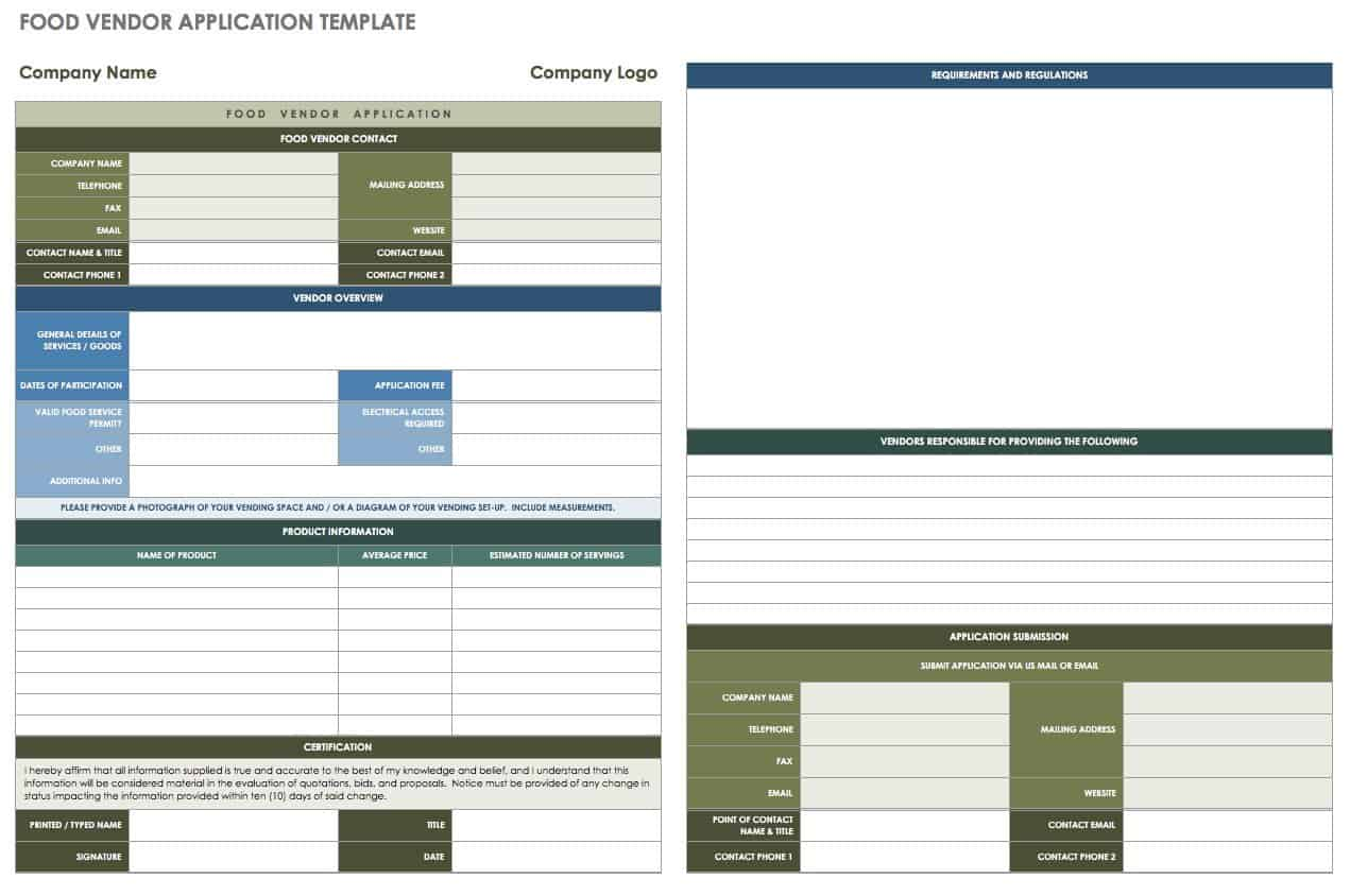 if youre planning a conference or an event with food vendors this template can help streamline the application process collect information from each