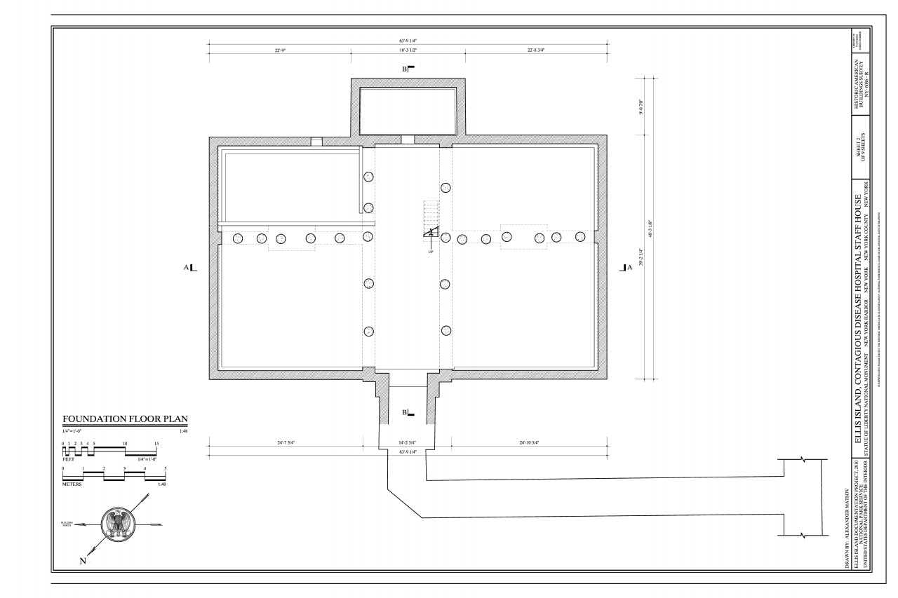 Construction plans for different building parts