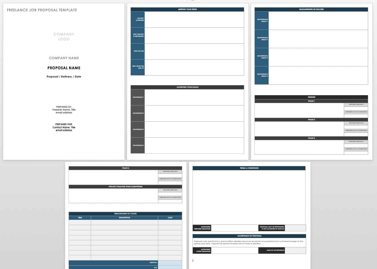 Free Job Proposal Templates | Smartsheet