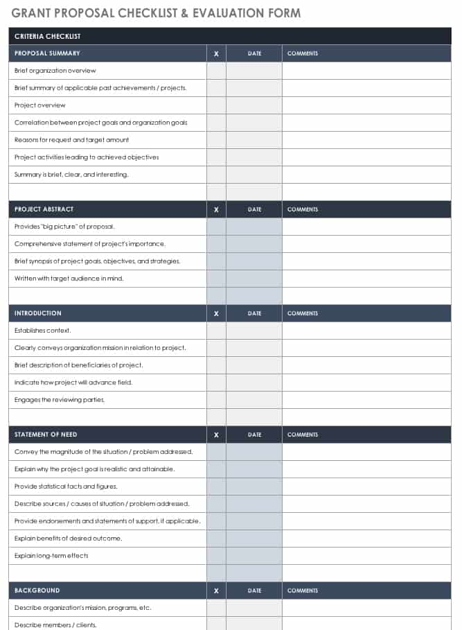Free Grant Proposal Templates  Smartsheet
