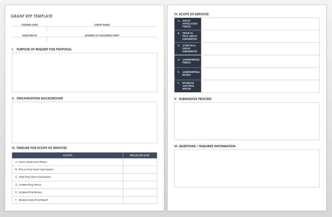Grant RTF Template Free Grant Proposal Templates