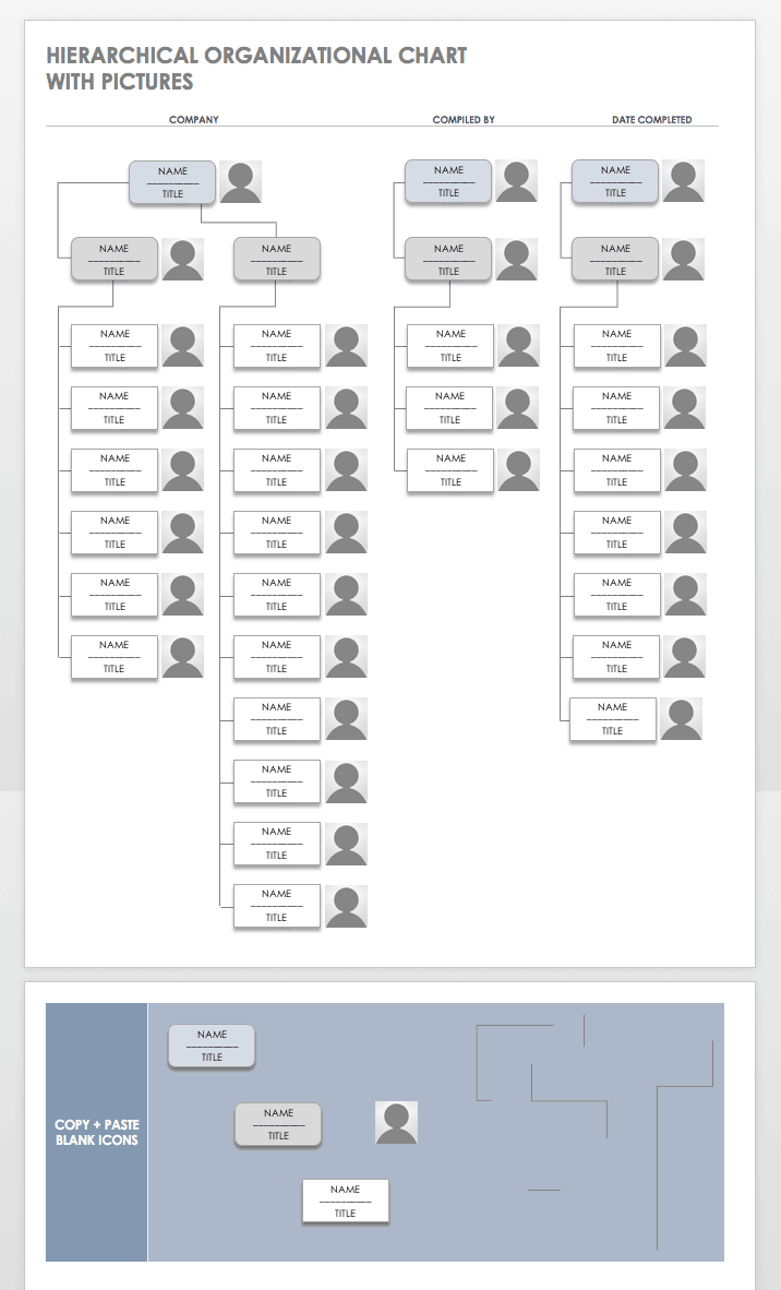 Free Organization Chart Templates For Word Smartsheet - Org chart template word