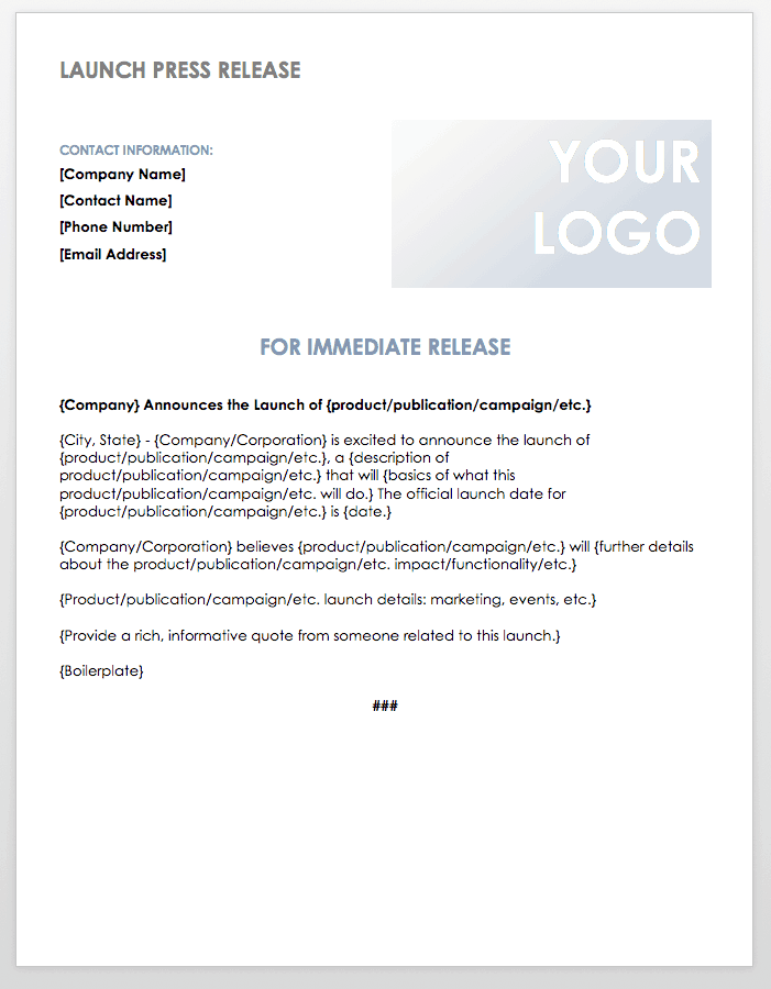 Free press release templates smartsheet launch press release template maxwellsz
