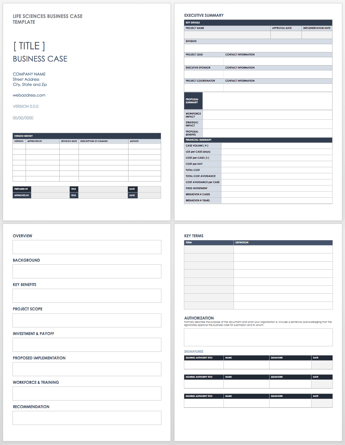 Free business case templates smartsheet life sciences business case friedricerecipe Gallery