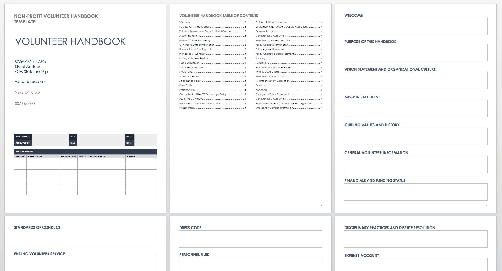 Employee and Company Handbook Templates | Smartsheet