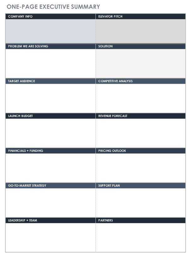 Free Executive Summary Templates | Smartsheet