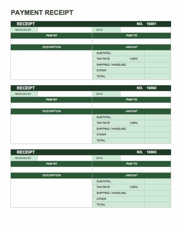 13 Free Business Receipt Templates Smartsheet – Reciept Templates