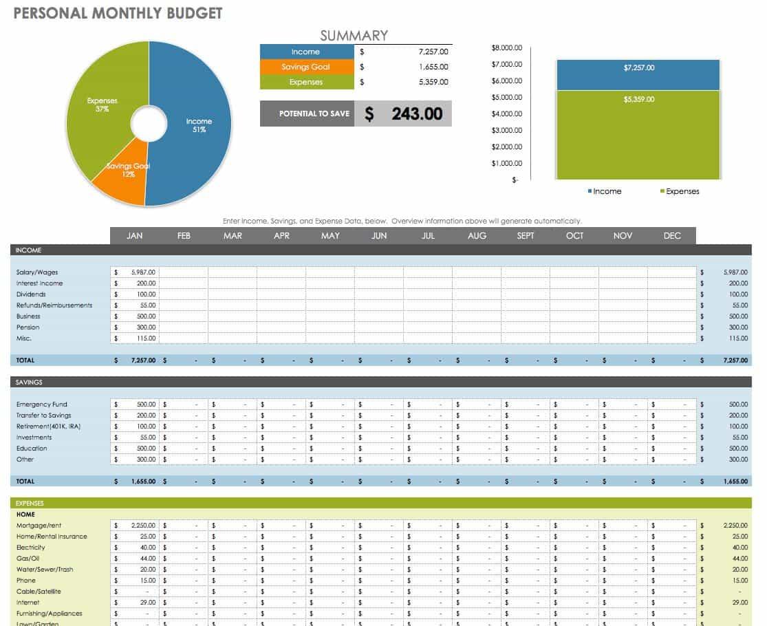 Excel Money Management Template