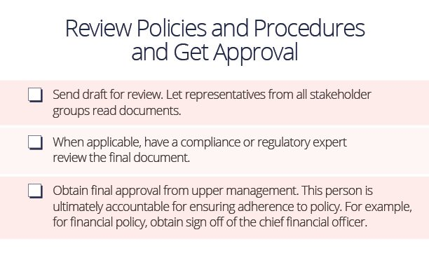 Procedure Review Approval Checklist