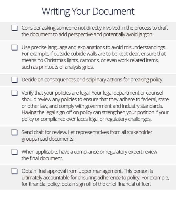 how to write policies and procedures
