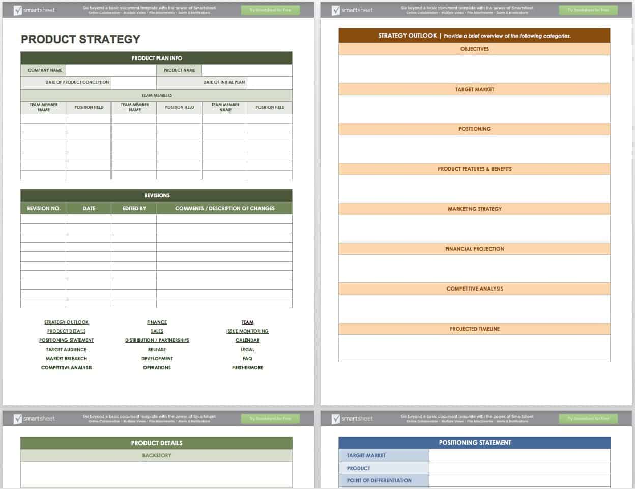 product plan template