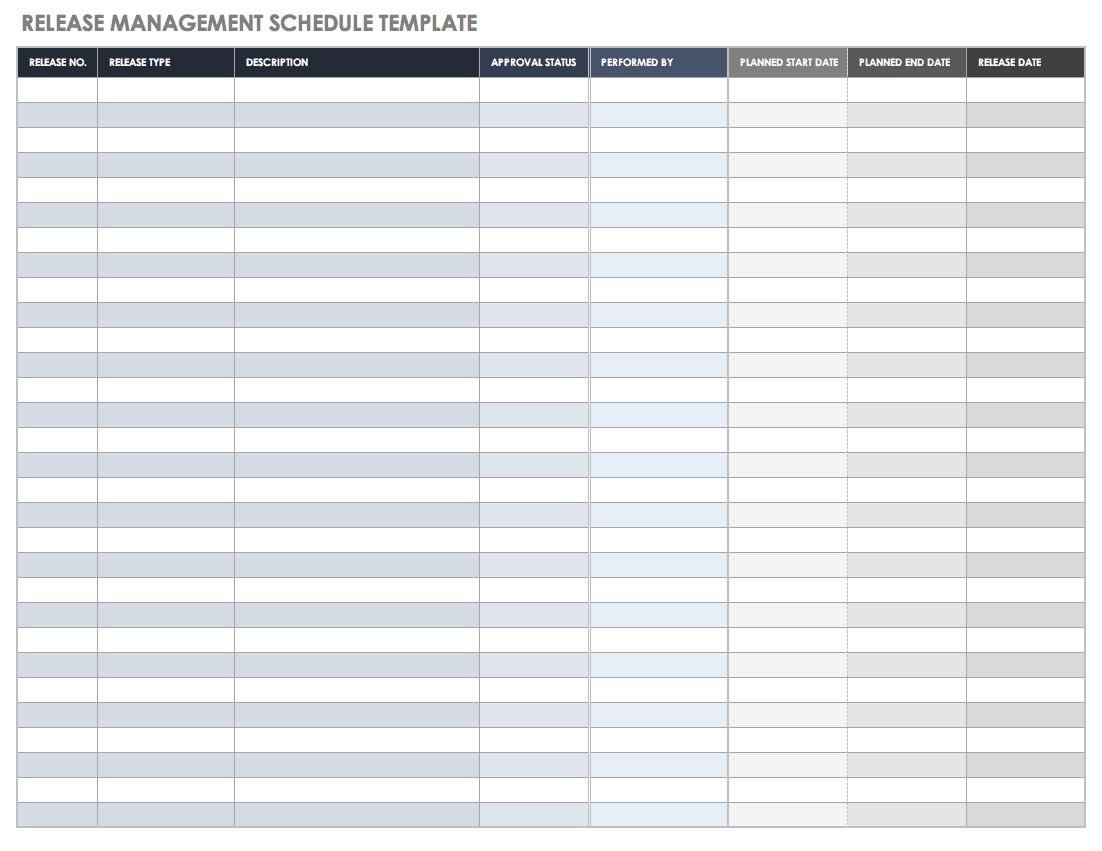 Release Management Schedule