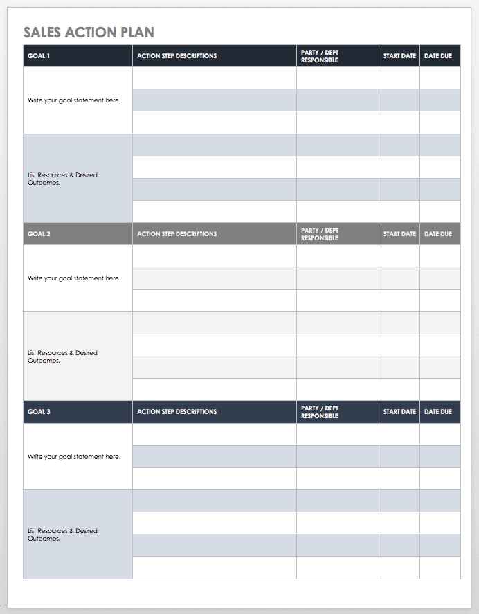 Free sales pipeline templates smartsheet for Sales manager action plan template
