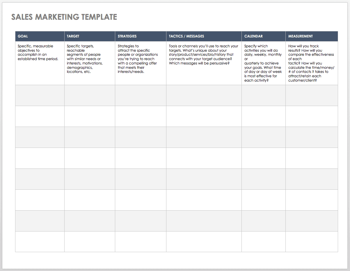 IC-Sales-Marketing-Template-WORD Team Lead Performance Goal Examples on top 10 employee, for managers,