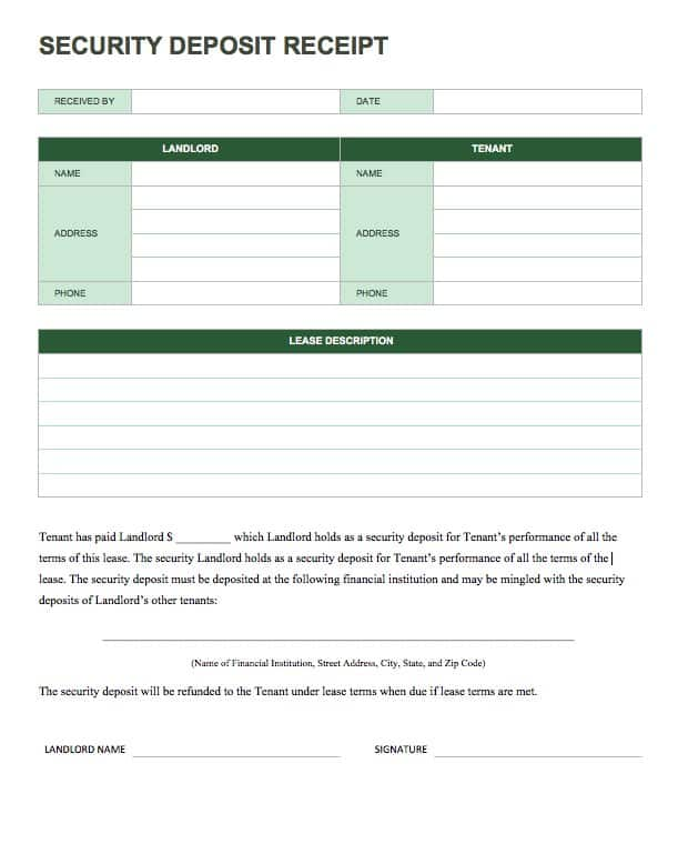 13 Free Business Receipt Templates Smartsheet – Tenant Receipt