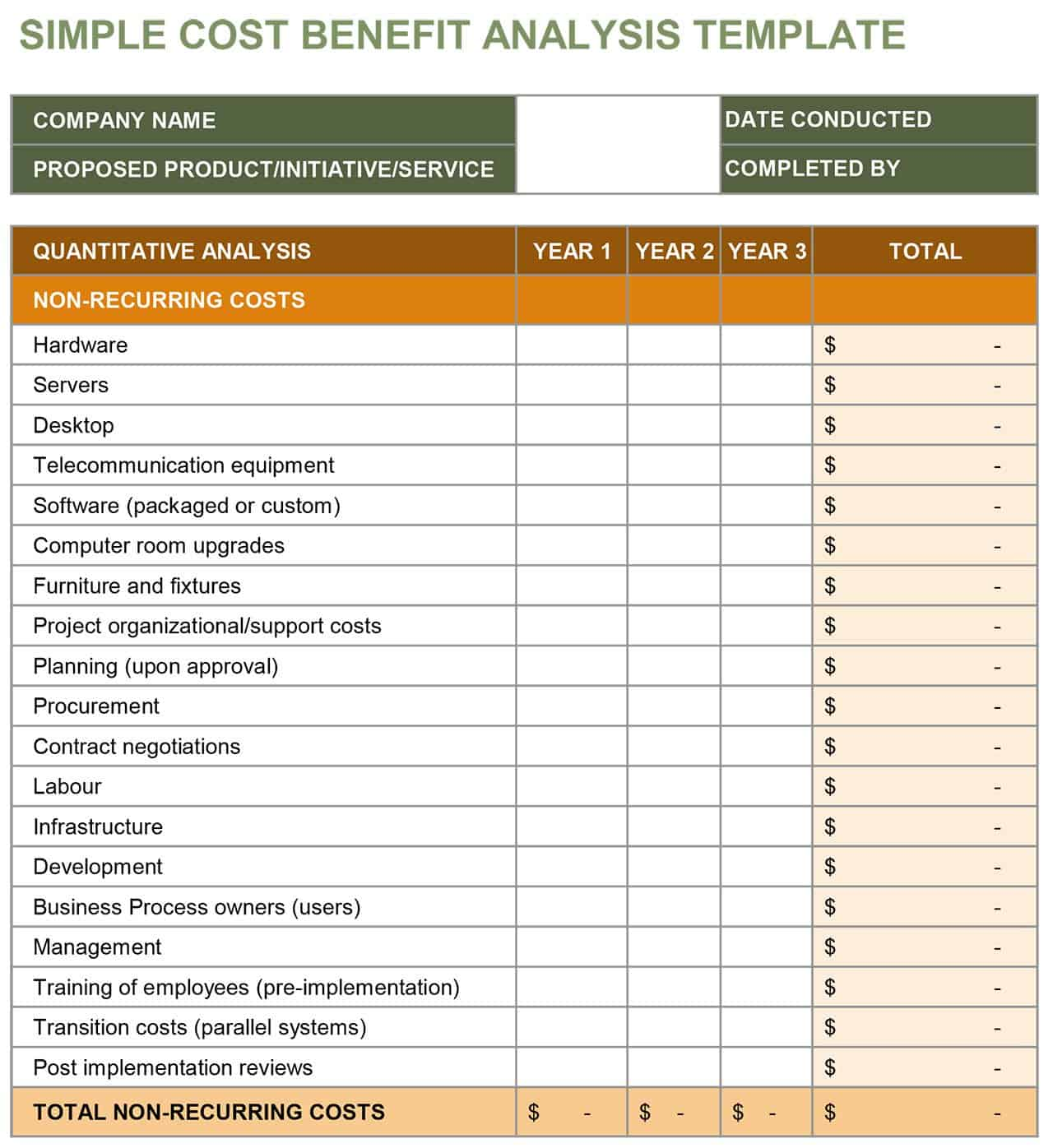 Cost Benefit Analysis Template   14 Download Free Documents In .