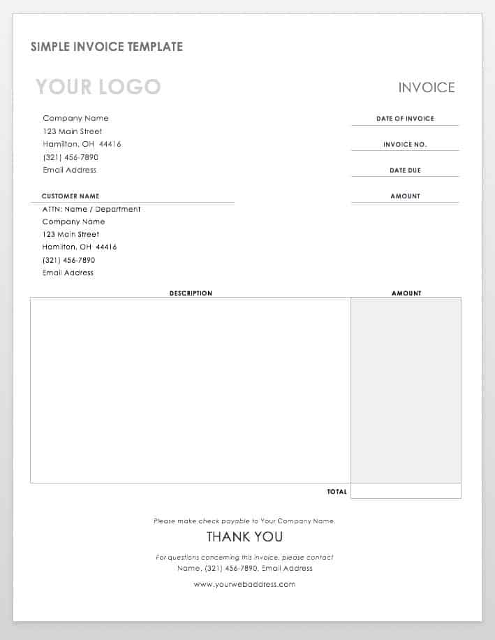 Free Invoice Templates Smartsheet - Invoice template word mac for service business